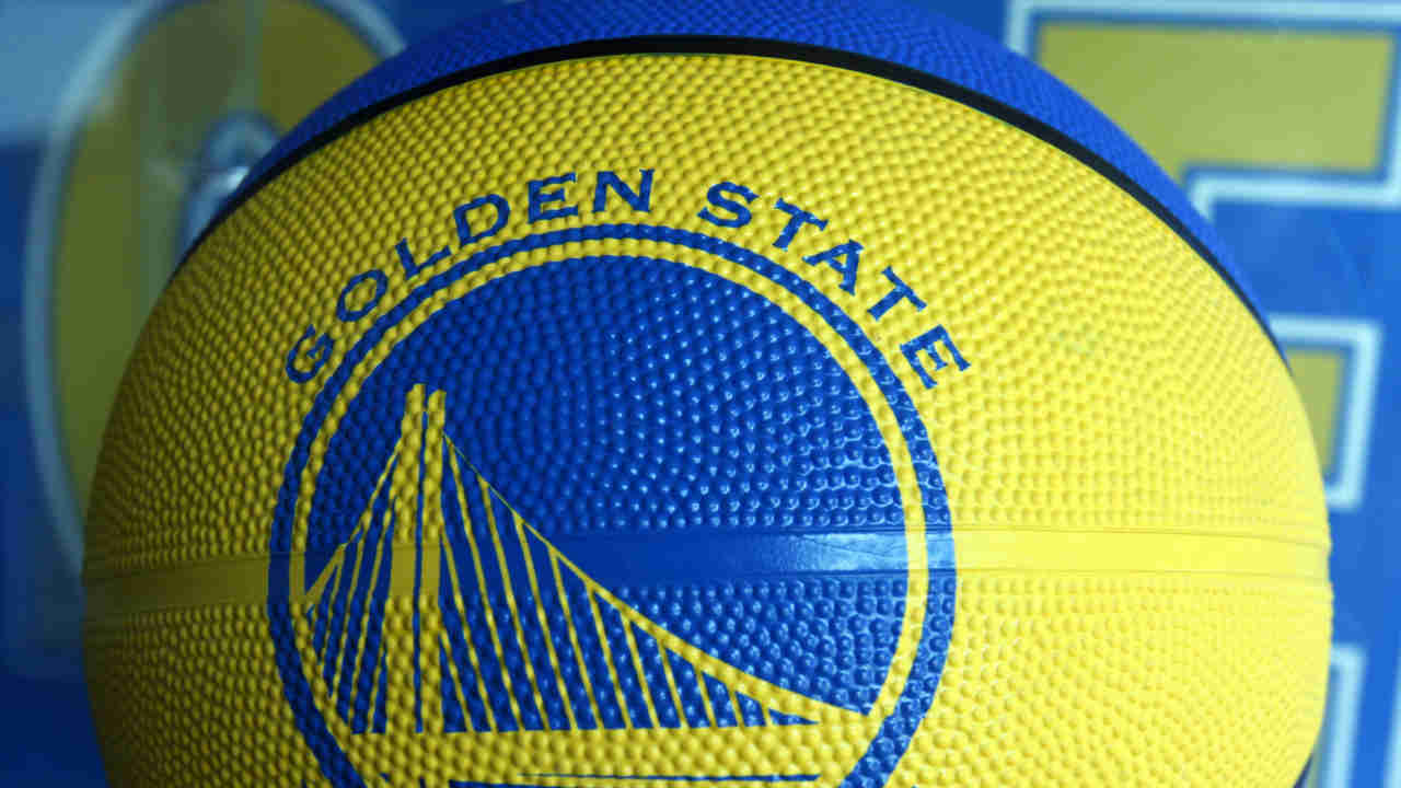 A Golden State Warriors basketball is seen in this undated image.