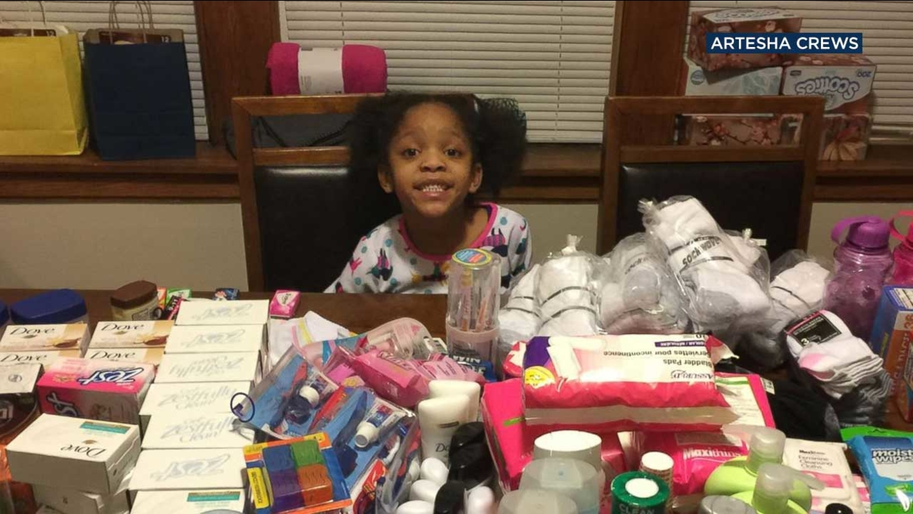 Armani Crews of Chicago wanted to feed the homeless instead of having a traditional birthday party when she turned 6 on March 5.