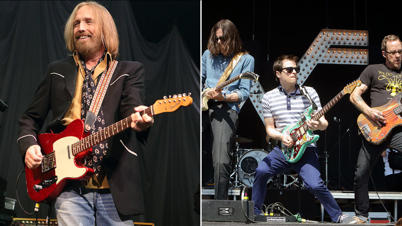 Tom Petty (left) and Weezer (right) were among the bands announced to be playing at the Arroyo Seco Music Festival in Pasadena in June of 2017.