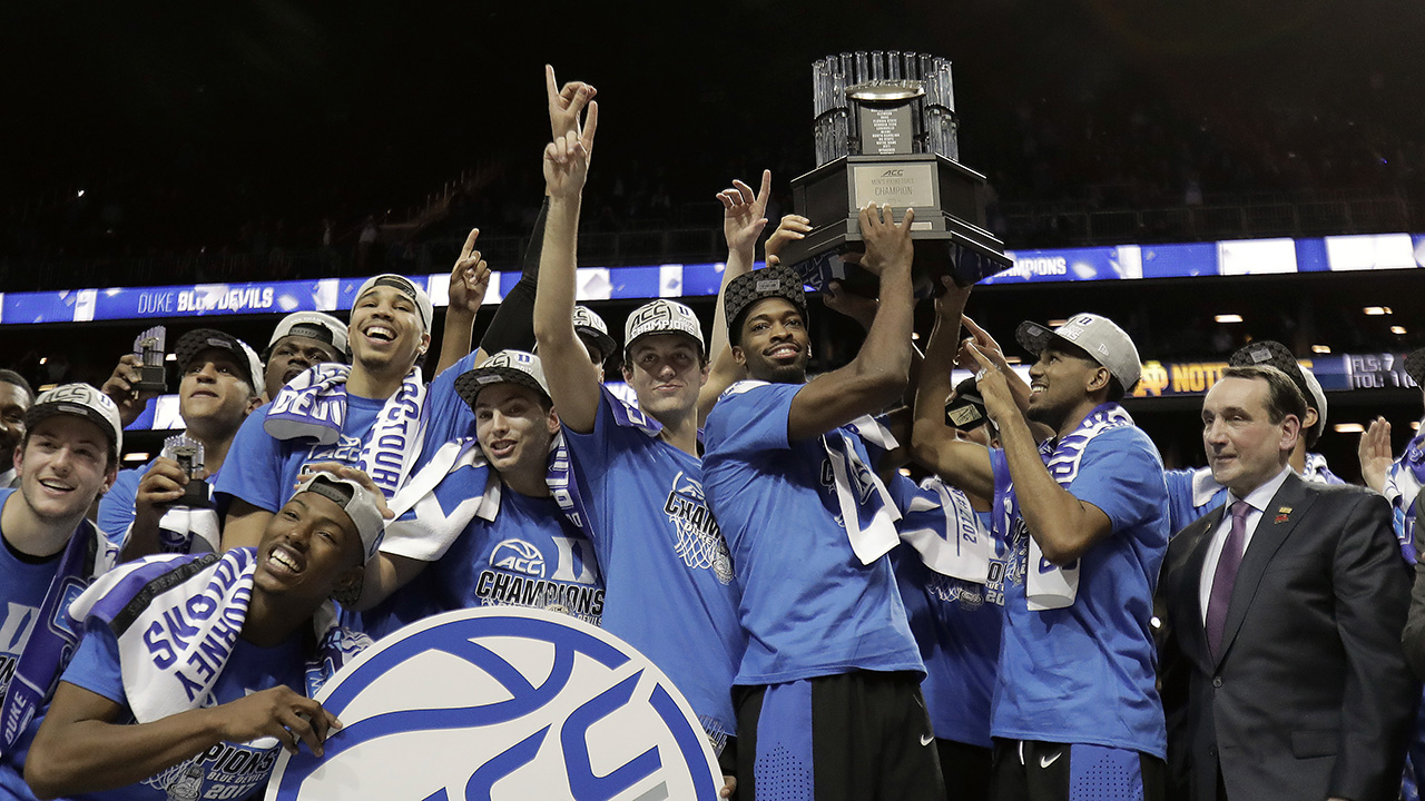 ACC champion Duke is the Las Vegas favorite to lift the NCAA crown, too.