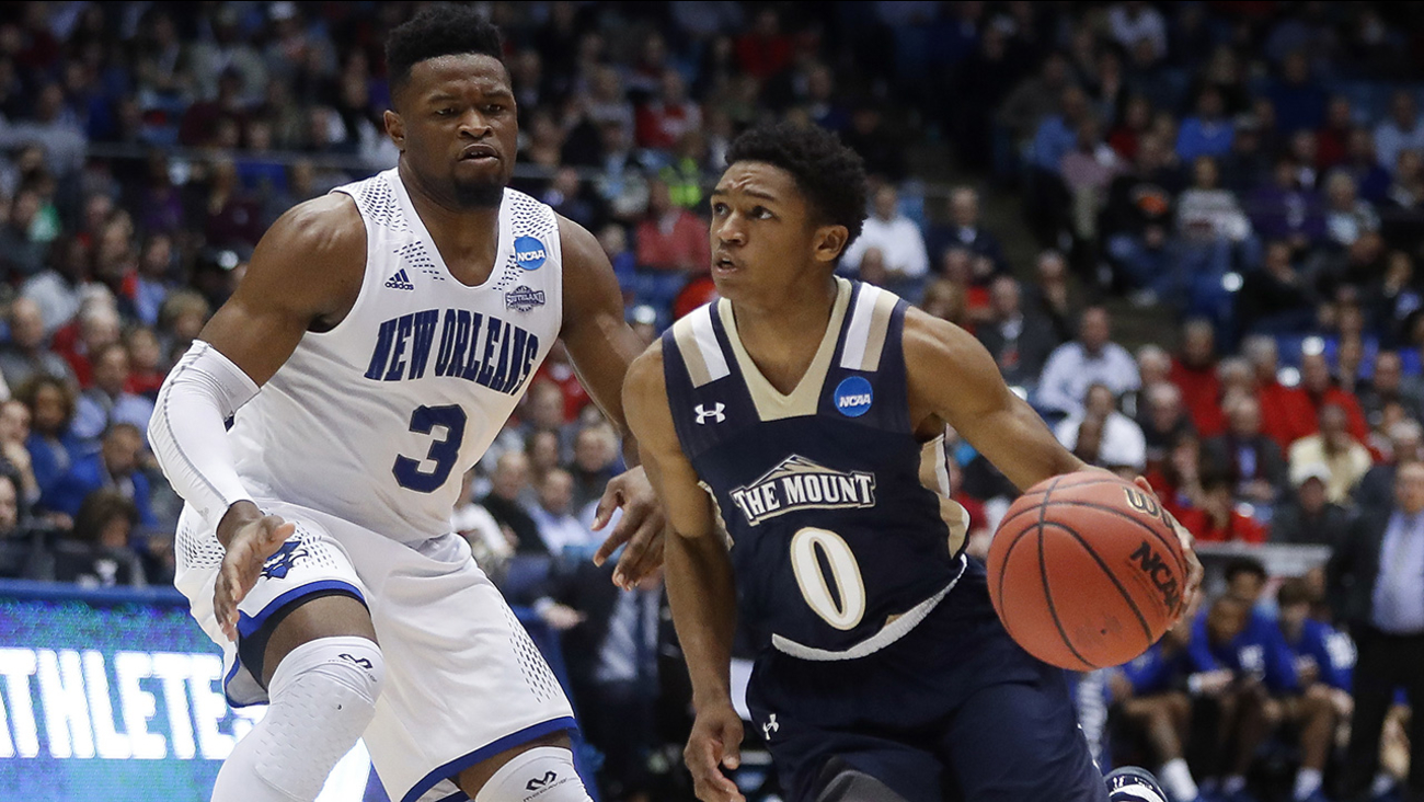 Mebane's own Junior Robinson led Mount St. Mary's with 23 points in a win over New Orleans to open the 2017 NCAA tournament.