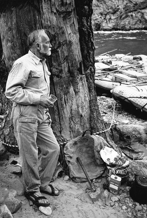 <div class='meta'><div class='origin-logo' data-origin='none'></div><span class='caption-text' data-credit='Royal Family'>Royal Robbins at the Middle Fork of the Salmon River in Idaho. He guided Royal Robbins employees on the classic, seven-day, self-supported kayak trip on an annual company retreat.</span></div>