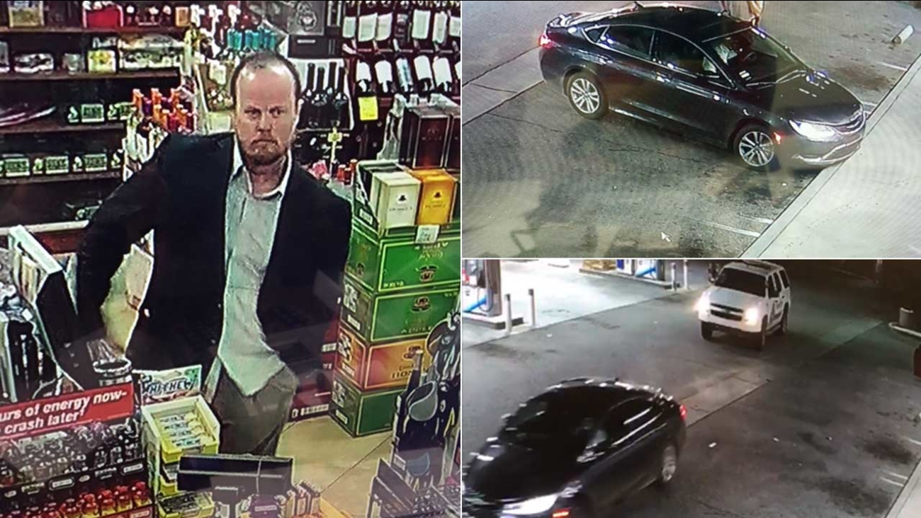 The San Bernardino County Sheriff's Department released these surveillance images that show a suspect who fired at a deputy and fled on Thursday, March 16, 2017.