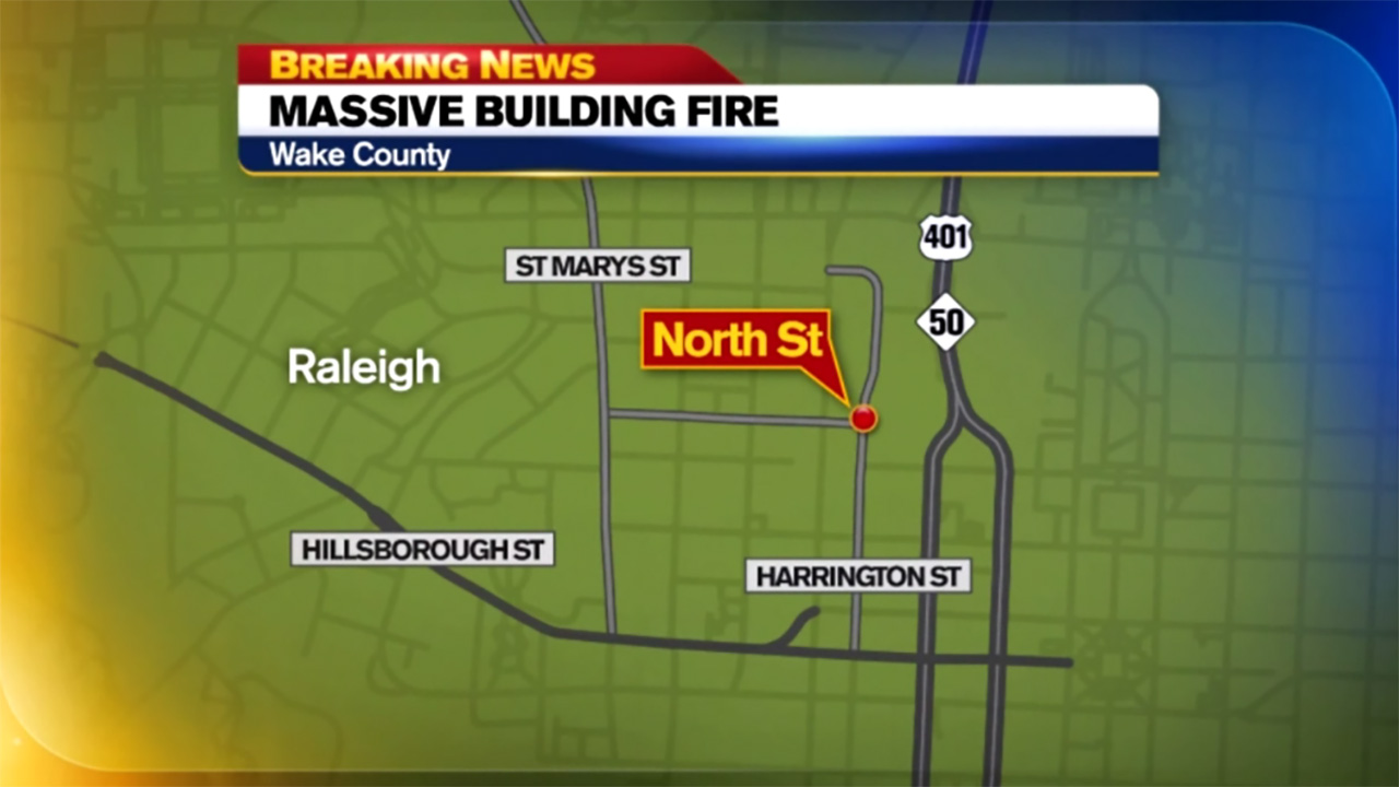 Huge Five Alarm Fire Burns In Downtown Raleigh Abc13 Com