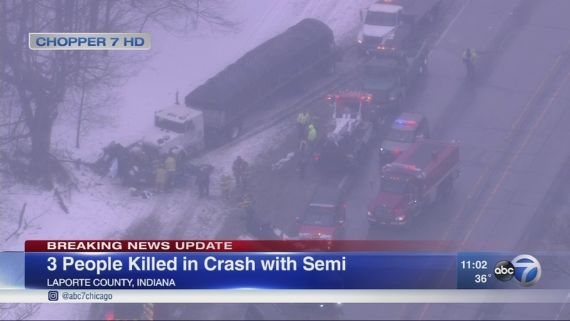 3 killed in La Porte County crash