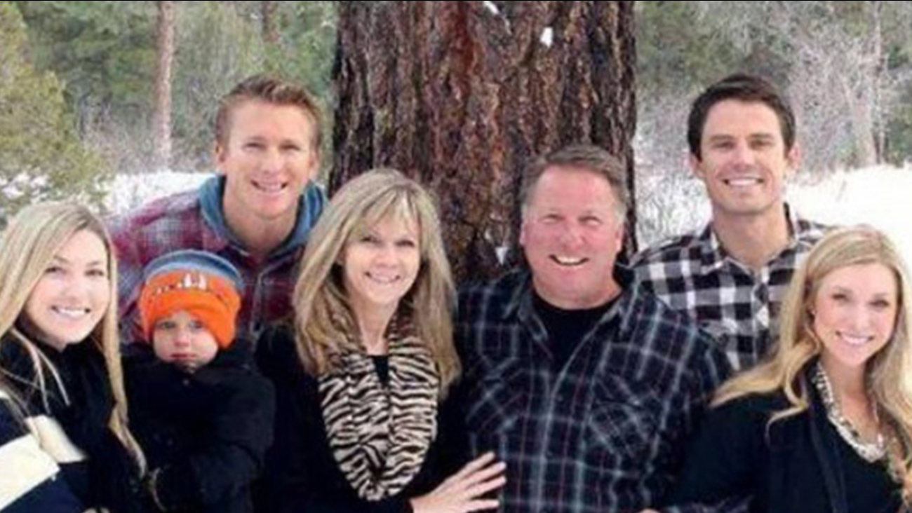 A family photo of three men killed in a small plane crash in the Lake Elsinore area.