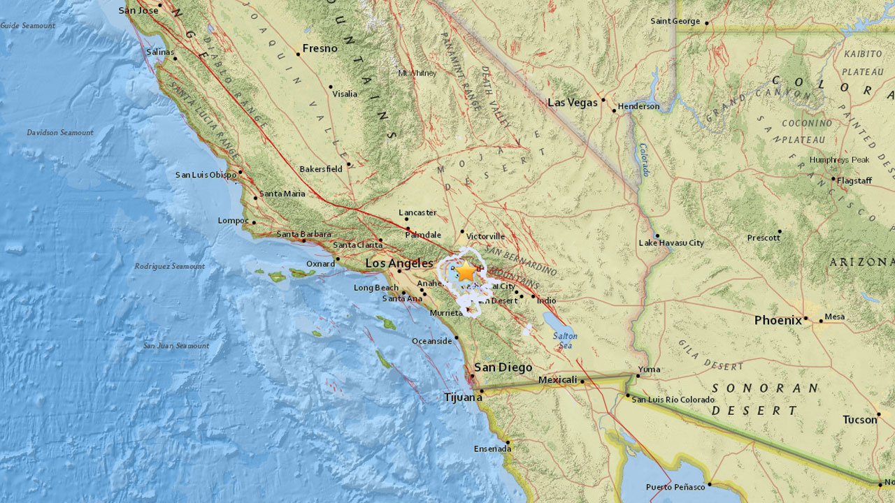 A 3.5-magnitude earthquake struck about 1.2 miles east, southeast of Loma Linda on Saturday, according to the U.S. Geological Survey.