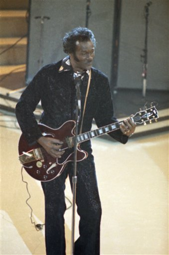 "<div class=""meta image-caption""><div class=""origin-logo origin-image ap""><span>AP</span></div><span class=""caption-text"">Musician Chuck Berry shown performing at the Grammy Awards, Feb. 28, 1984, Los Angeles, Calif. (AP Photo/Reed Saxon) (AP)</span></div>"