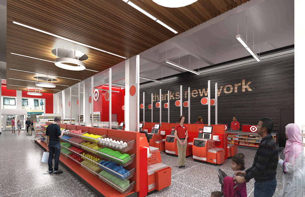 """<div class=""""meta image-caption""""><div class=""""origin-logo origin-image none""""><span>none</span></div><span class=""""caption-text"""">This rendering shows what the checkout area will look like at the Target store on 34th Street in Midtown Manhattan. (Photo/Target)</span></div>"""
