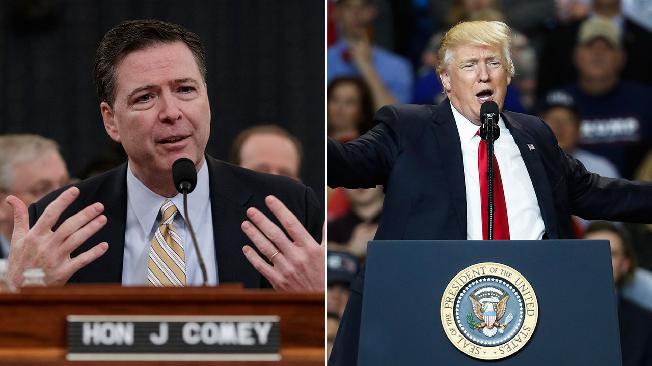FBI Director James Comey testified before Congress while President Donald Trump spoke at a rally in Kentucky on Monday, March 20, 2017.