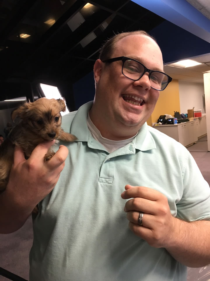 <div class='meta'><div class='origin-logo' data-origin='none'></div><span class='caption-text' data-credit='KGO-TV'>ABC7 producer Noah is seen holding a puppy at our adoption event with our Perfect Pet partners in honor of National Puppy Day in San Francisco on Thursday, March 23, 2017.</span></div>