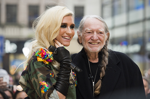 <div class='meta'><div class='origin-logo' data-origin='AP'></div><span class='caption-text' data-credit='Photo by Charles Sykes/Invision/AP'>Ke$ha and Willie Nelson appear on NBC's &#34;Today&#34; show on Tuesday, Nov. 20, 2012 in New York.</span></div>