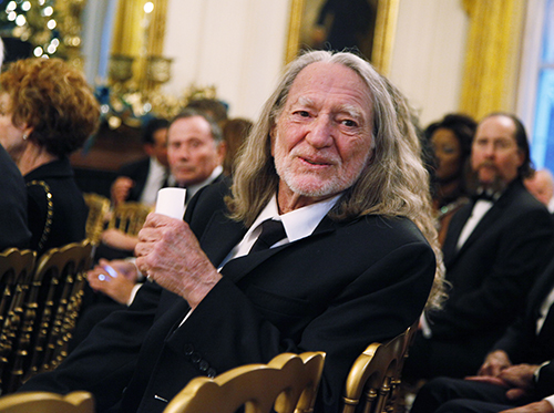 <div class='meta'><div class='origin-logo' data-origin='AP'></div><span class='caption-text' data-credit='AP Photo/Manuel Balce Ceneta'>Country singer Willie Nelson attends a reception for the recipients of the 2010 Kennedy Center Honors in East Room of the White House, Sunday, Dec. 5, 2010.</span></div>