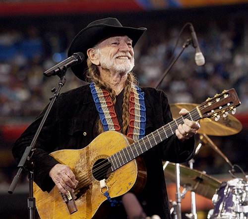 <div class='meta'><div class='origin-logo' data-origin='AP'></div><span class='caption-text' data-credit='AP Photo/Dave Martin'>Country singer Willie Nelson performs during the pregame show before Super Bowl XXXVIII on Sunday, Feb. 1, 2004, at Reliant Stadium in Houston.</span></div>