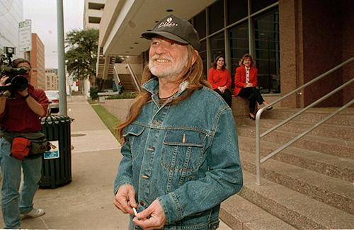 <div class='meta'><div class='origin-logo' data-origin='AP'></div><span class='caption-text' data-credit='AP Photo/David Breslauer'>Singer Willie Nelson leaves the Federal Building in Austin, Texas, on February 3, 1993, after settling his tax problems with the Internal Revenue Service.</span></div>