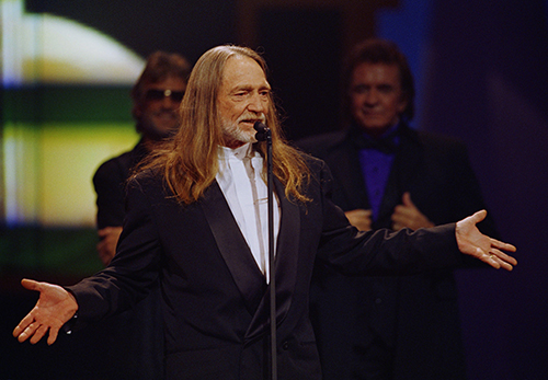 <div class='meta'><div class='origin-logo' data-origin='AP'></div><span class='caption-text' data-credit='AP Photo/Mark Humphrey'>Country singer-songwriter Willie Nelson appears at the Country Music Association Awards in Nashville, Tenn., Sept. 29, 1993.</span></div>