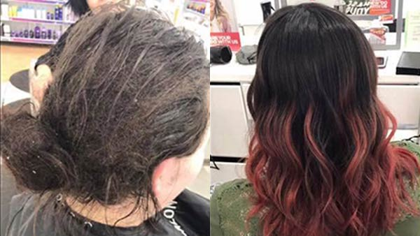 "<div class=""meta image-caption""><div class=""origin-logo origin-image none""><span>none</span></div><span class=""caption-text"">A salon worker in Oshkosh, Wisconsin, shared how she gave a life-changing makeover to a client facing a debilitating mental illness. (Kate Langman/Facebook)</span></div>"