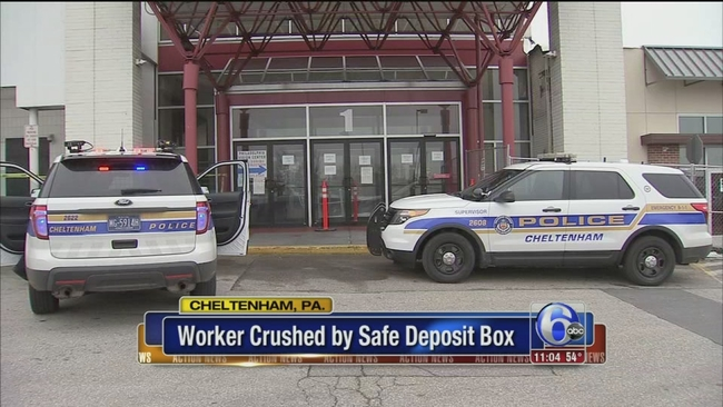 Police: Man crushed to death by safe deposit box in Cheltenham Township | abc7chicago.com