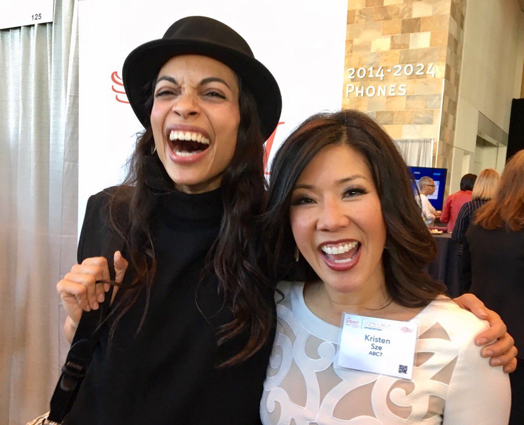 "<div class=""meta image-caption""><div class=""origin-logo origin-image none""><span>none</span></div><span class=""caption-text"">ABC7 News' Kristen Sze meets with Rosario Dawson a day before her keynote address in for the San Francisco Professional BusinessWomen of California Conference on March, 27, 2017. (Twitter/@KristenSze)</span></div>"