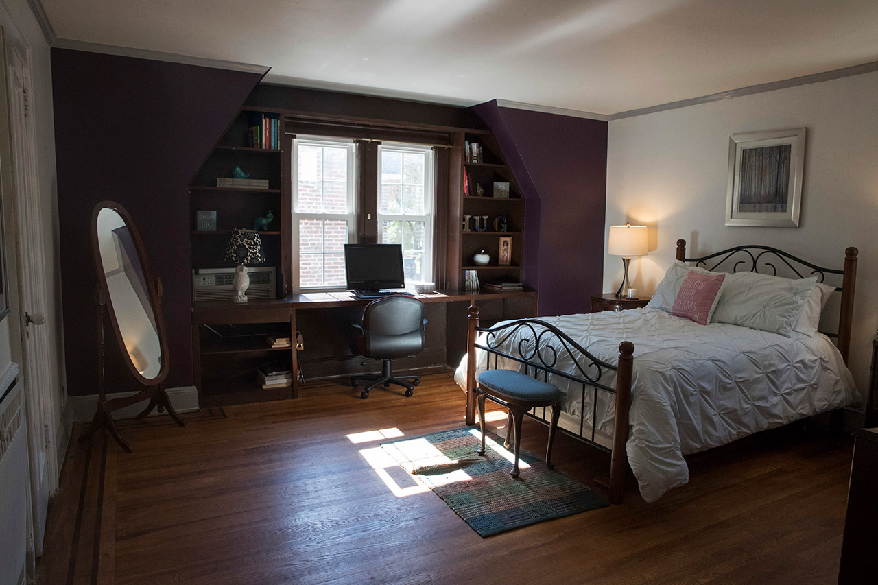 <div class='meta'><div class='origin-logo' data-origin='AP'></div><span class='caption-text' data-credit='AP Photo/Mary Altaffer'>This 2016 photo shows a bedroom in the house where Republican presidential candidate Donald Trump spent his early childhood.</span></div>
