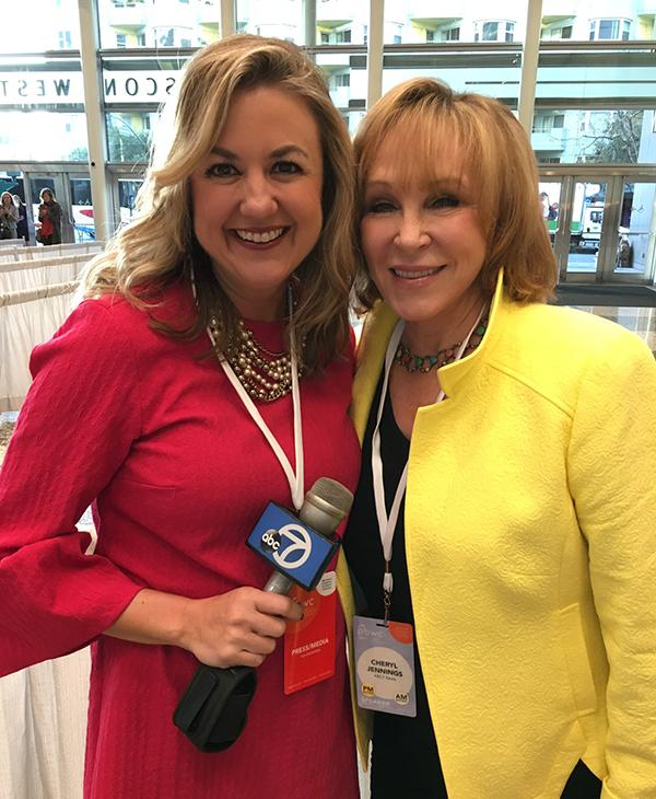 <div class='meta'><div class='origin-logo' data-origin='none'></div><span class='caption-text' data-credit='KGO-TV'>ABC7's Amy Hollyfield (left) and (right) Cheryl Jennings at the Professional BusinessWomen of California Conference  in San Francisco on March, 28, 2017.</span></div>
