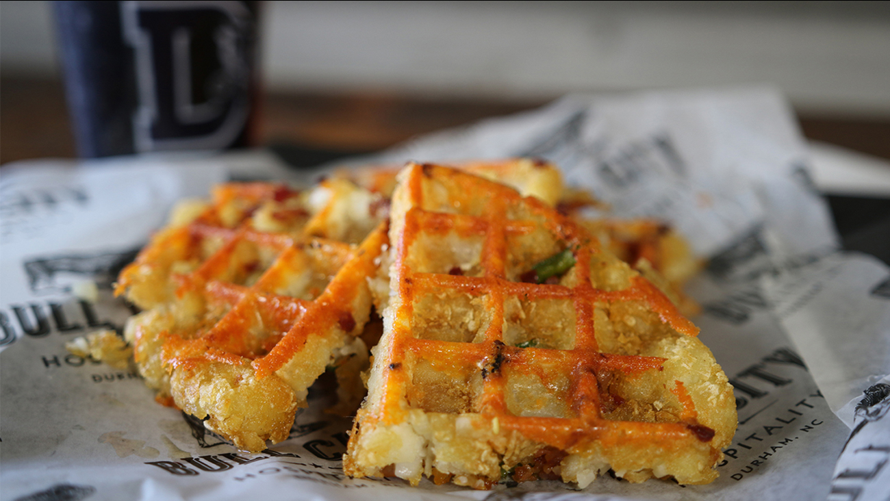 """The """"Tater Tot Waffle"""" is one of eight food specials that was created for 2017 season"""