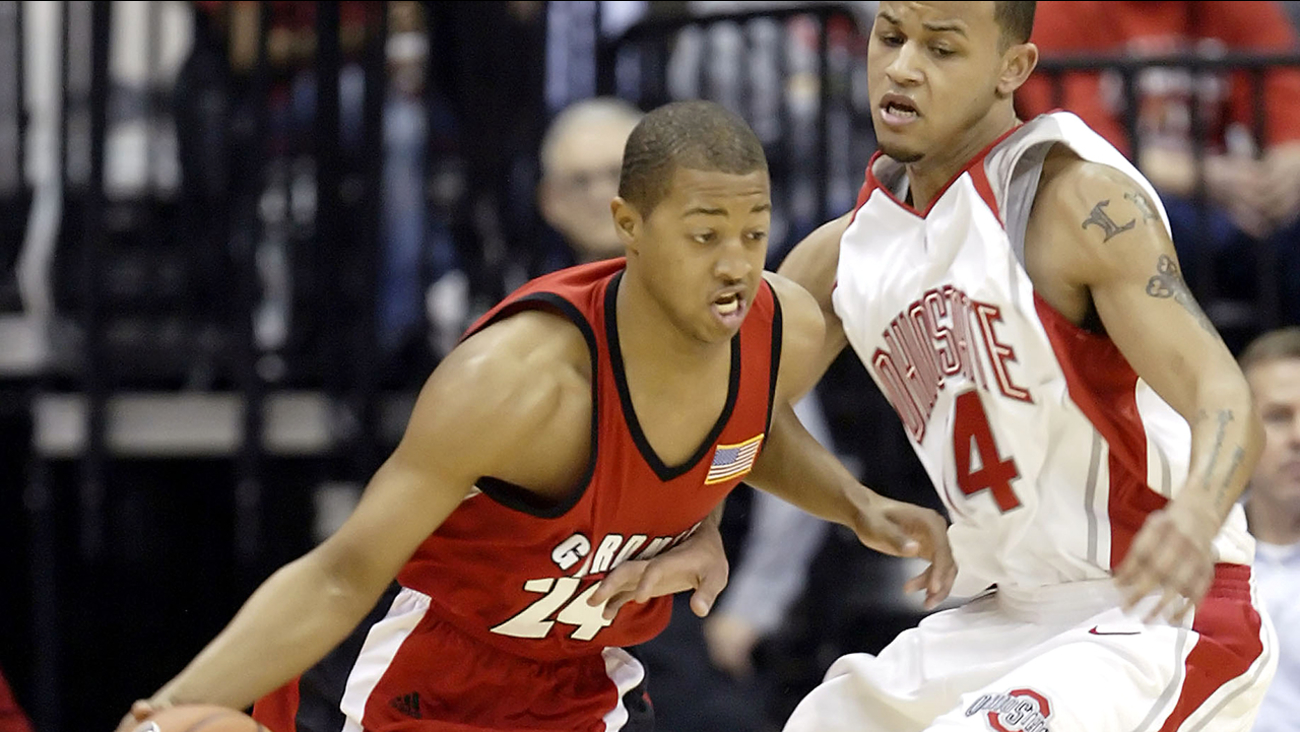 Takayo Siddle, left, during his playing days for Gardner-Webb.