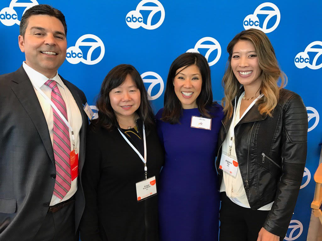 "<div class=""meta image-caption""><div class=""origin-logo origin-image none""><span>none</span></div><span class=""caption-text"">ABC7's Mike Nicco and Kristen Sze with attendees at the Professional BusinessWomen of California Conference in San Francisco on March, 28, 2017. (Photo Courtesy of Angie Krackeler/Twitter)</span></div>"