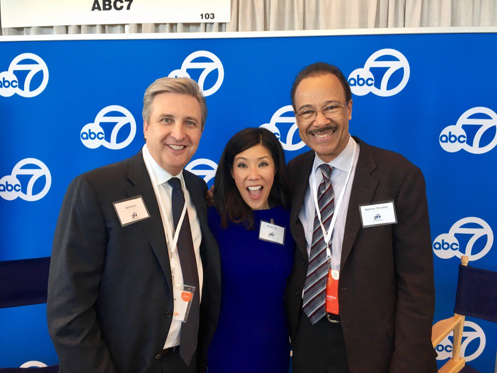 <div class='meta'><div class='origin-logo' data-origin='none'></div><span class='caption-text' data-credit='KGO-TV'>KGO-TV General Manager Bill Burton poses with Kristen Sze and Spencer Christian at the 2017 PBWC in San Francisco.</span></div>