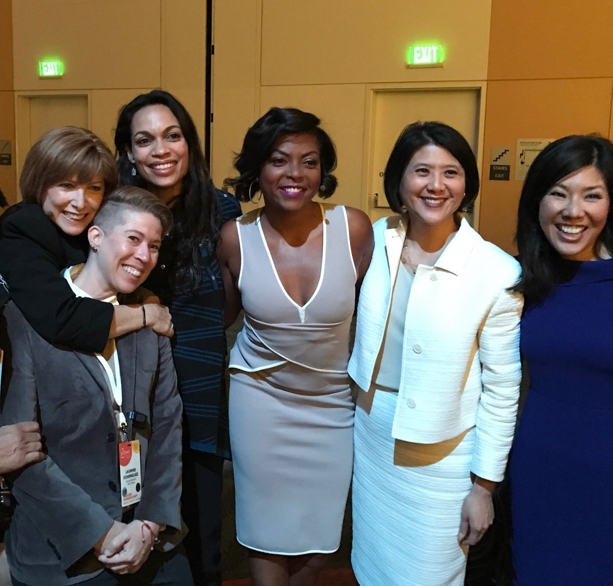 <div class='meta'><div class='origin-logo' data-origin='none'></div><span class='caption-text' data-credit='KGO-TV'>Attendees including Taraji P. Henson, Rosario Dawson, and Kristen Sze pose at the Professional BusinessWomen of California Conference in San Francisco on March, 28, 2017.</span></div>