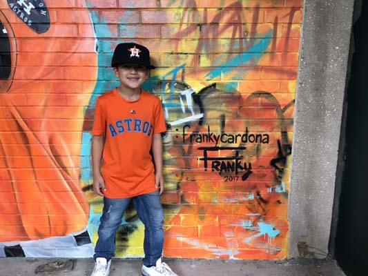 <div class='meta'><div class='origin-logo' data-origin='KTRK'></div><span class='caption-text' data-credit=''>Jayden Cardona's dad painted the Astros Street Art Display.</span></div>