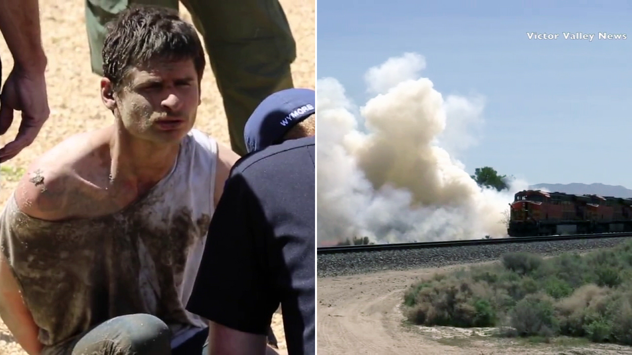 A suspect was arrested after authorities said multiple fires were set near Mojave Narrows Park in Victorville on Thursday, March 30, 2017.
