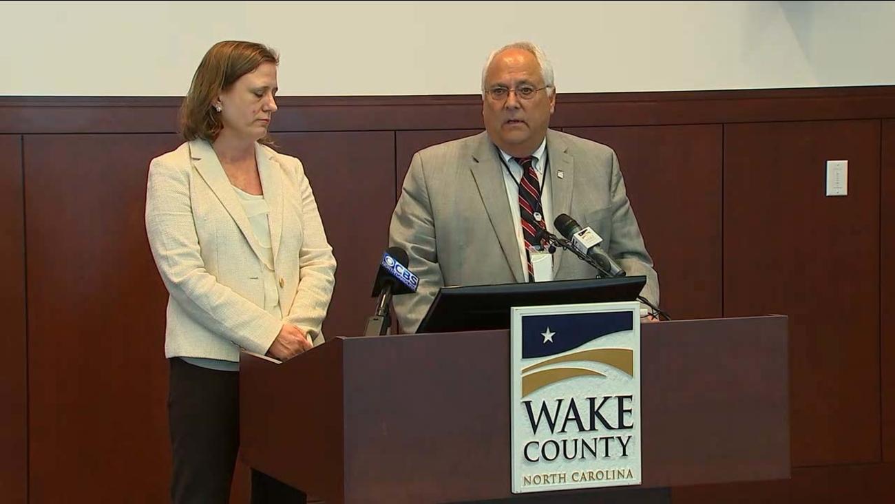 Wake County Manager Jim Hartmann and Wake County District Attorney Lorrin Freeman