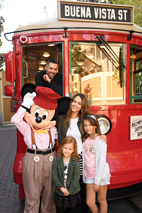 "<div class=""meta image-caption""><div class=""origin-logo origin-image kabc""><span>KABC</span></div><span class=""caption-text"">Actress Jessica Alba, husband Cash Warren and daughters Honor and Haven take a ride with Mickey Mouse at Disney California Adventure Park on Friday, March 31, 2017. (Richard Harbaugh/Disneyland Resort)</span></div>"