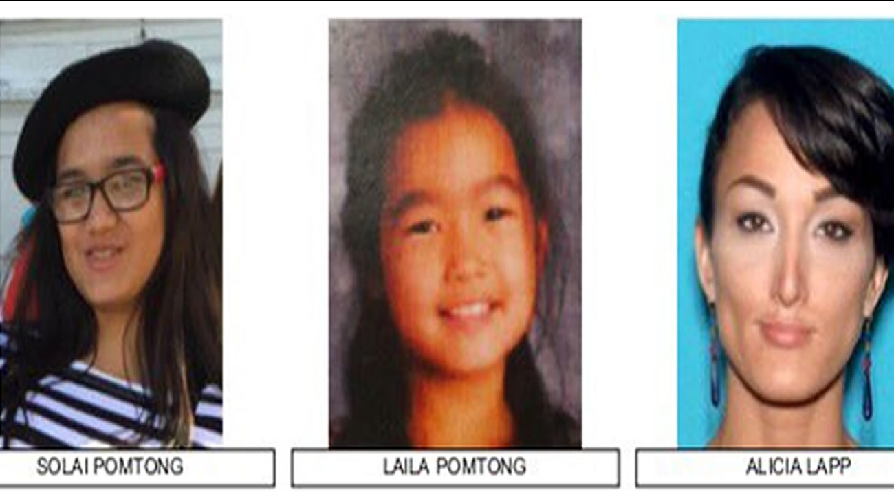 These are undated images of Solai (right) and Laila Pomtong who were last seen with Alicia Lapp (left.)