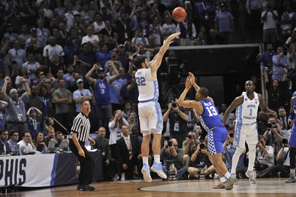 "<div class=""meta image-caption""><div class=""origin-logo origin-image ap""><span>AP</span></div><span class=""caption-text"">North Carolina forward Luke Maye (32) shoots the winning basket over Kentucky's Isaiah Briscoe (13) in the second half of the South Regional final game against Kentucky (AP Photo/Brandon Dill)</span></div>"