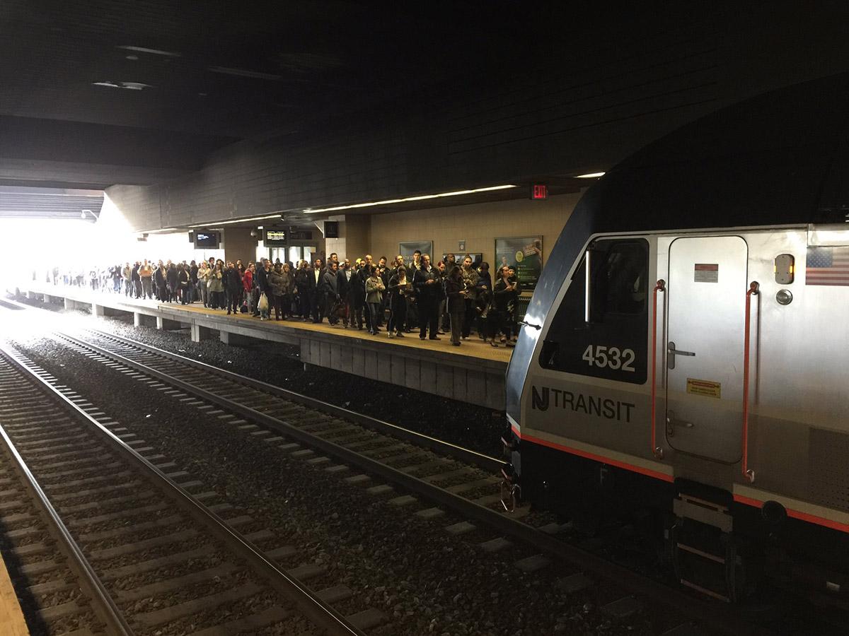 <div class='meta'><div class='origin-logo' data-origin='none'></div><span class='caption-text' data-credit='Photo/@robertjohndavis via Twitter'>This photo shows crowds at the NJ Transit Secaucus transfer station after a train derailed at New York Penn Station on Monday, April 3, 2017.</span></div>
