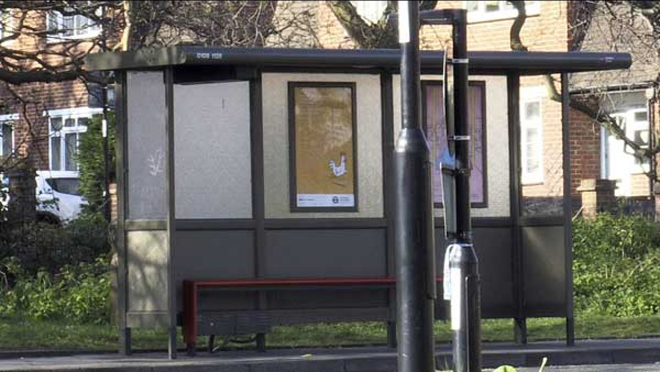 A general view of the bus stop in Croydon, south London, where a 17-year old Iranian-Kurdish asylum seeker was attacked by a group of people in a suspected hate attack.