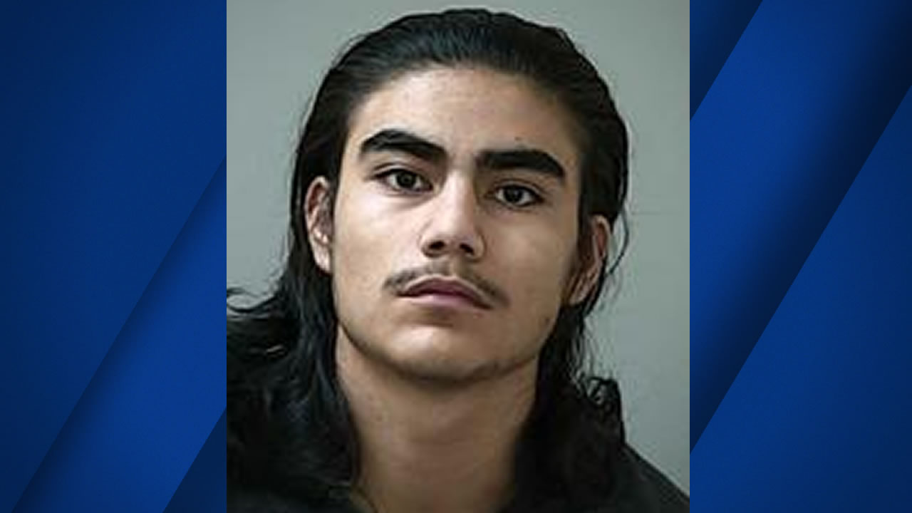 This is mugshot of 19-year-old Alexander Monzon was released by police in Morgan Hill, Calif. on Monday, April 3, 2017.