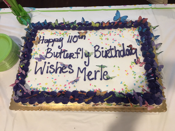 "<div class=""meta image-caption""><div class=""origin-logo origin-image wls""><span>WLS</span></div><span class=""caption-text"">Merle Phillips rang in her 110th birthday with a butterfly-themed party at her home, a senior living facility in west suburban Carol Stream.</span></div>"