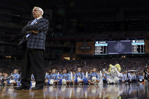 "<div class=""meta image-caption""><div class=""origin-logo origin-image none""><span>none</span></div><span class=""caption-text"">North Carolina head coach Roy Williams watches. (AP Photo/David J. Phillip)</span></div>"
