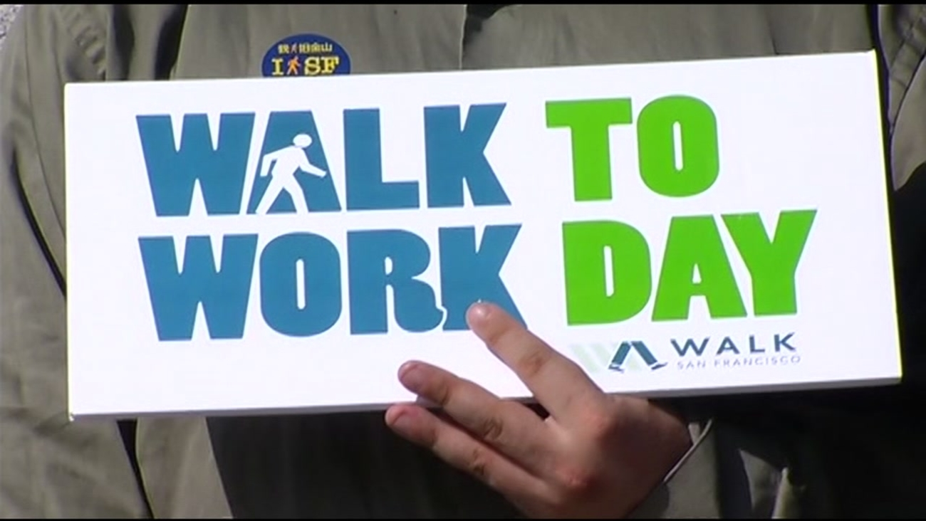FILE -- Thousands participate in Walk to Work Day in San Francisco, California.