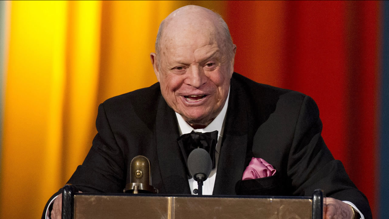 In this April 28, 2012 file photo, Don Rickles accepts the Johnny Carson Award at The 2012 Comedy Awards in New York. (AP Photo/Charles Sykes)