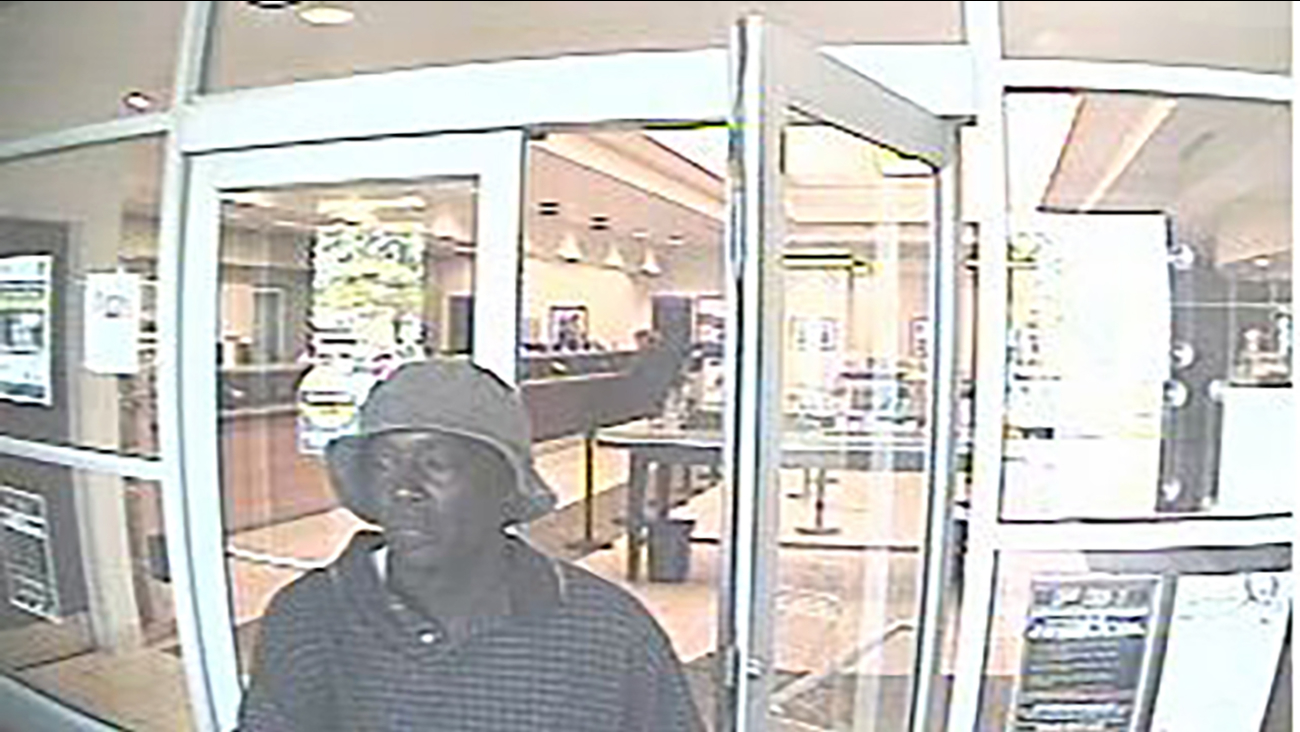 Surveillance picture of Rocky Mount bank robbery suspect
