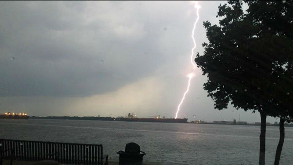"<div class=""meta image-caption""><div class=""origin-logo origin-image ""><span></span></div><span class=""caption-text"">Lightning and heavy rains hit the Philadelphia area on July 14, 2014. (Richard St.Petery from West Deptford, NJ / Facebook)</span></div>"