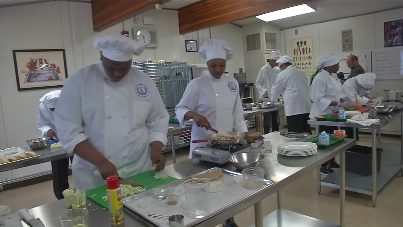 Oakland culinary students participate in the Cooking Up Change competition in Oakland, Calif. on April 12, 2017.