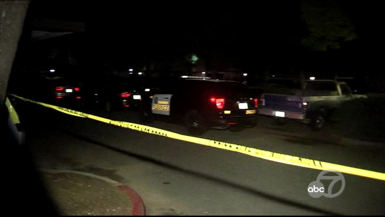 Police investigate shooting scene in Vacaville, California, Friday, April 14, 2017.