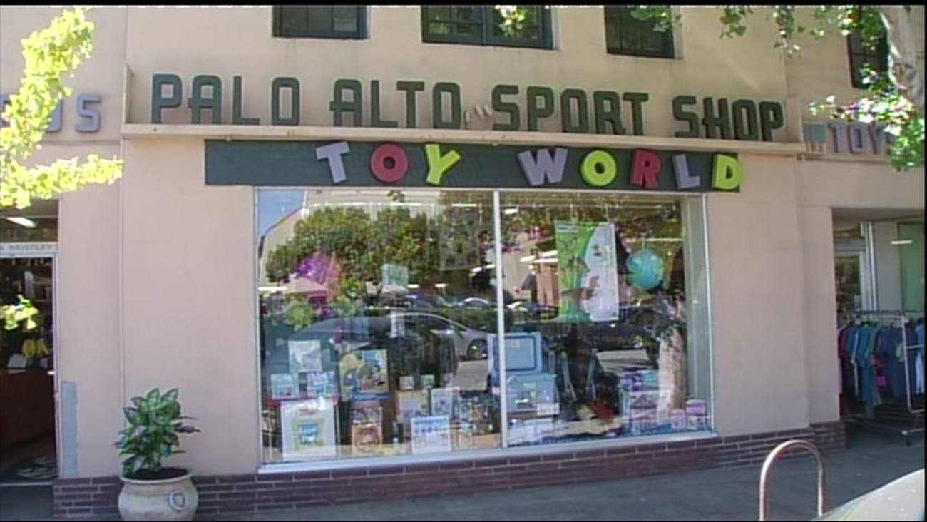 Palo Alto Sport Shop and Toy World is seen on Friday, April 14, 2017 in Palo Alto, California.