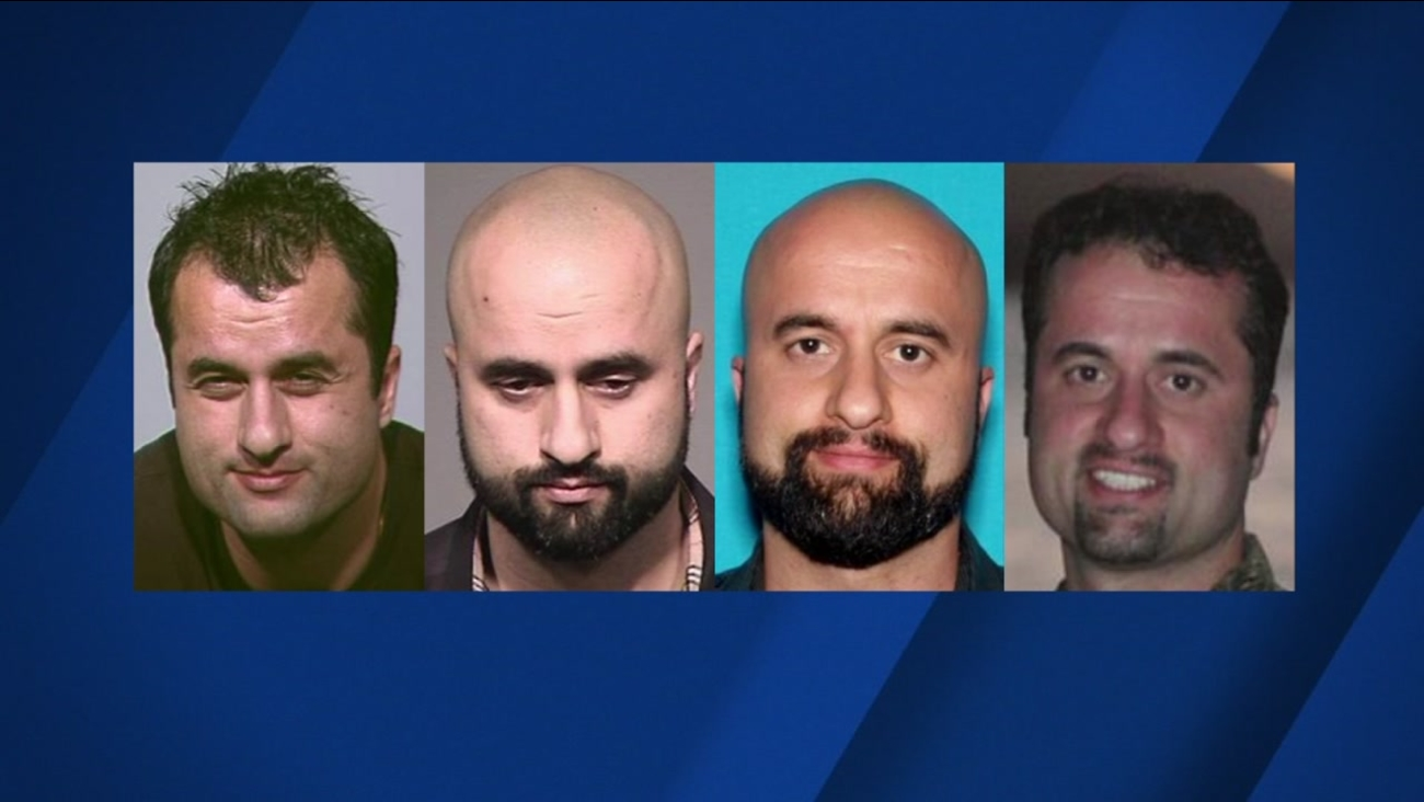 Police released photos of 36-year-old Darius Bunyad, showing four different looks.