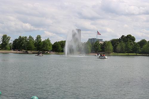 <div class='meta'><div class='origin-logo' data-origin='KTRK'></div><span class='caption-text' data-credit='Danny Clemens'>Visitors enjoy a boat ride across McGovern Lake.</span></div>